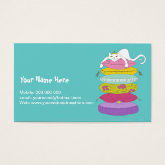 Grumpy princess cat and the pea business cards