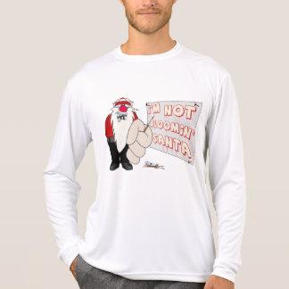Grumpy Santa Performance Micro-Fiber Long Sleeve T Tee Shirts