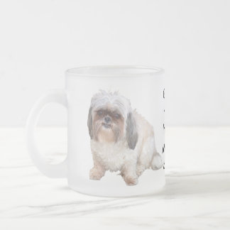 Grumpy Shih Tzu Frosted Morning Coffee Mug