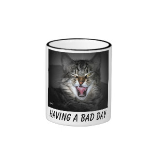 Grumpy Snarling Cat Mug Coffee Mug
