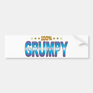 Grumpy Star Tag v2 Bumper Sticker