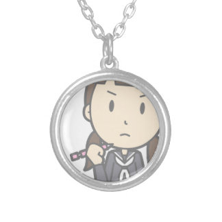 Grumpy Student Silver Plated Necklace
