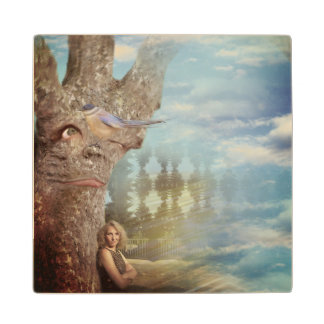 Grumpy Tree Wood Coaster