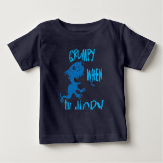 grumpy when hungry blue monster baby T-Shirt