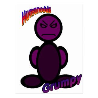 Grumpy (with logos) postcard