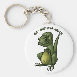 Grumpysaurus dinosaur being grumpy! key ring