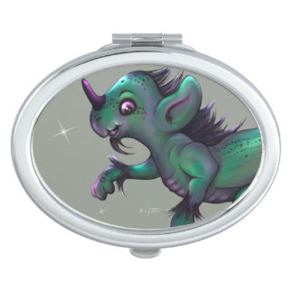 GRUNCH ALIEN CARTOON compact mirror OVAL