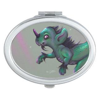 GRUNCH ALIEN CARTOON compact mirror OVAL