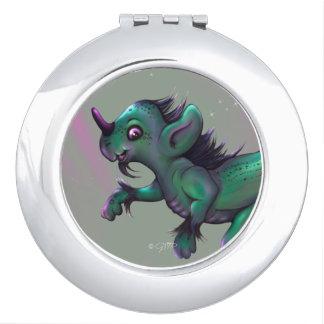 GRUNCH ALIEN CARTOON compact mirror Round