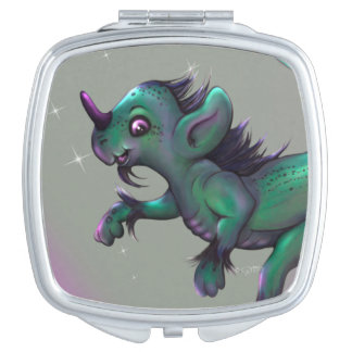 GRUNCH ALIEN CARTOON compact mirror SQUARE