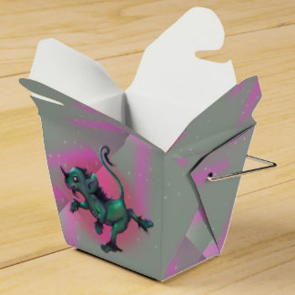 GRUNCH ALIEN CARTOON Take Out Favor Box