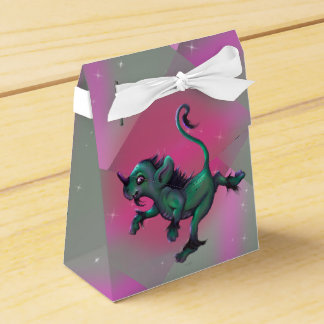 GRUNCH ALIEN CARTOON Tent with Ribbon Favor Box