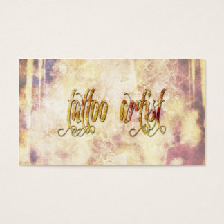 Grundge Tattoo Artist Business Card