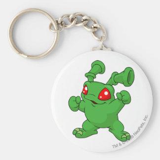 Grundo Green Basic Round Button Key Ring