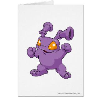 Grundo Purple Greeting Card