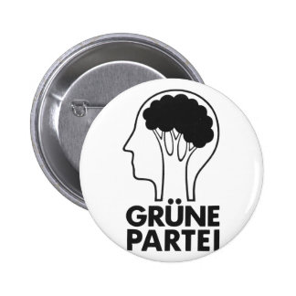 Grüne Partei 6 Cm Round Badge