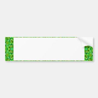 Grünes Netz Kaleidoscope/Green Kaleidoscope Net Bumper Sticker