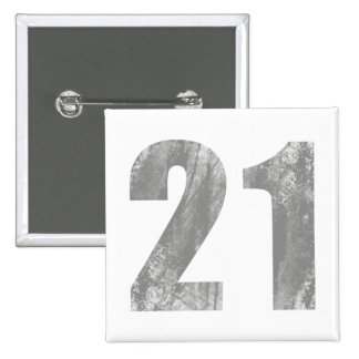 Grunge 21st Birthday Gifts 15 Cm Square Badge