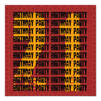 Grunge 21st Birthday Red Black Gold W1005 Card