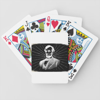 grunge abraham lincoln bicycle playing cards