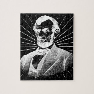 grunge abraham lincoln jigsaw puzzle