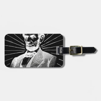 grunge abraham lincoln luggage tag