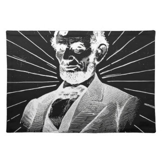 grunge abraham lincoln placemat