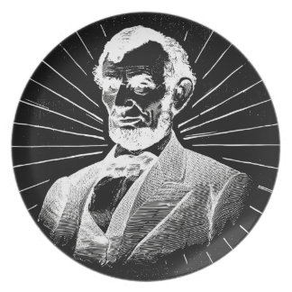 grunge abraham lincoln plate