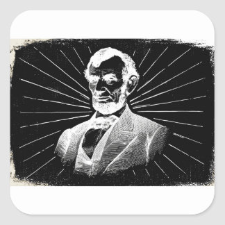 grunge abraham lincoln square sticker