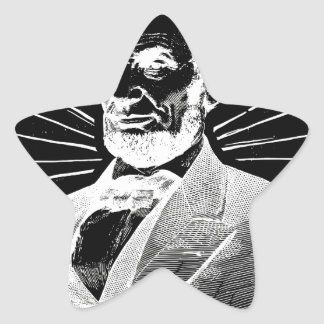 grunge abraham lincoln star sticker