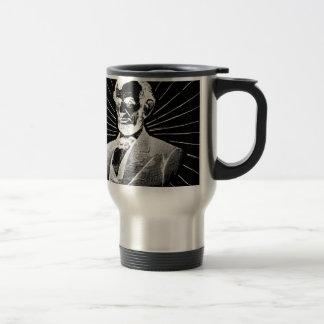 grunge abraham lincoln travel mug