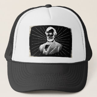 grunge abraham lincoln trucker hat