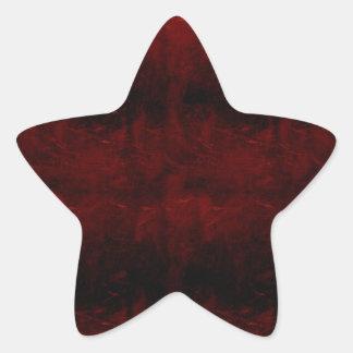 Grunge abstract star sticker