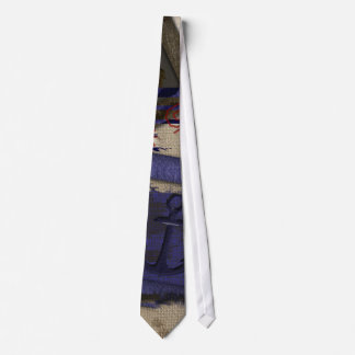 Grunge Aged Nautical Ship's Anchor Tie