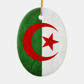 Grunge Algeria National Flag Ceramic Ornament