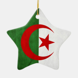Grunge Algeria National Flag Ceramic Ornament