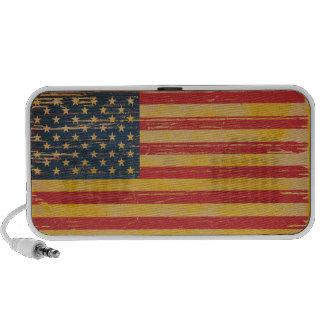 Grunge American Flag Doodle Speaker