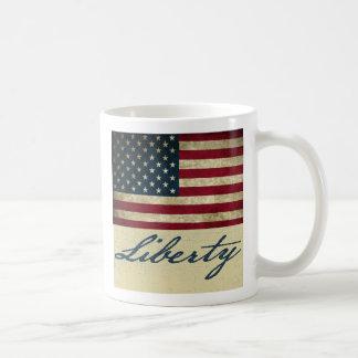 Grunge American Flag Liberty Coffee Mug