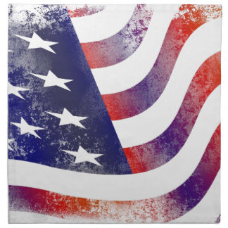 Grunge American Flag Napkin