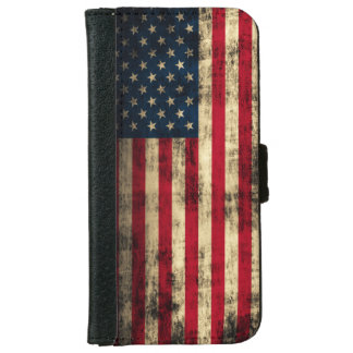 Grunge American Flag iPhone 6 Wallet Case