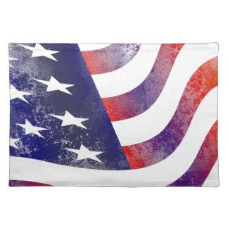 Grunge American Flag Placemat