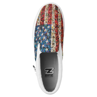 grunge american flag shoes sneakers