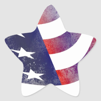 Grunge American Flag Star Sticker