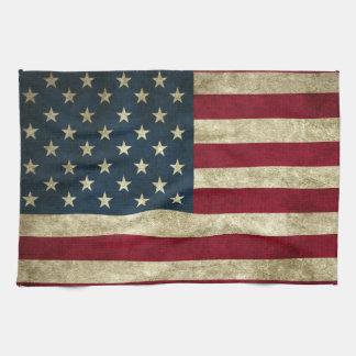 Grunge American Flag Tea Towels