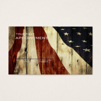 grunge american flag wood construction business card