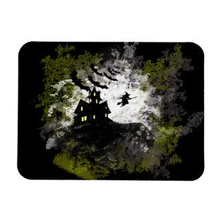 Grunge And Distressed Halloween Background Rectangular Photo Magnet