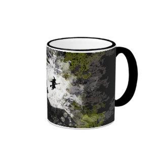 Grunge And Distressed Halloween Background Ringer Mug