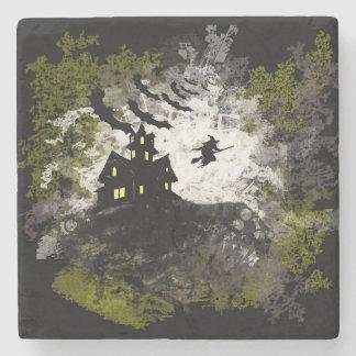 Grunge And Distressed Halloween Background Stone Beverage Coaster