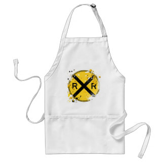 GRUNGE AND SPLATTER RAILROAD CROSSING SIGN STANDARD APRON