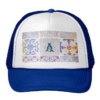 Grunge antique vintage chic elegant pattern mix trucker hat